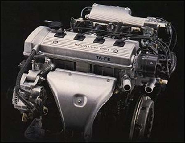 вес двигателя toyota 7a