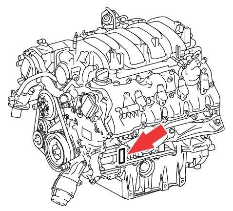 Номер двигателя 2UR-FSE