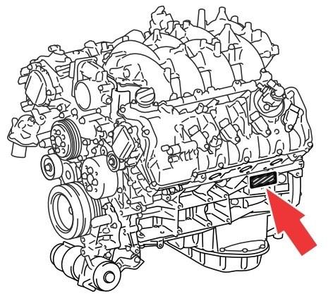 Номер двигателя 2UR-GSE