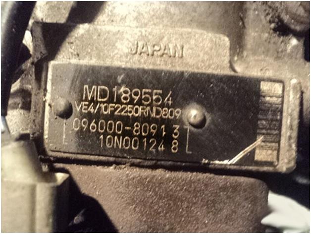 Расположение номера двигателя 4d68