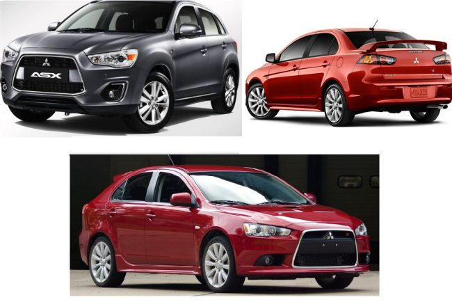 Mitsubishi ASX, Mitsubishi LANCER седан, Mitsubishi LANCER SPORTBACK