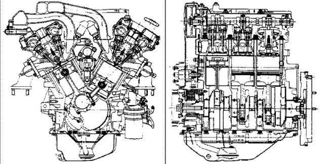 Схема двигателя KL