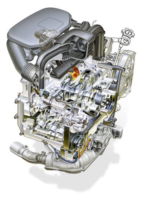 Схема двигателя EJ253