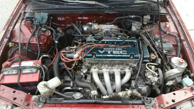 H22A в подкапотном пространстве Honda Accord