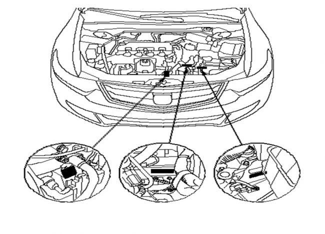 Расположение номера двигателя
