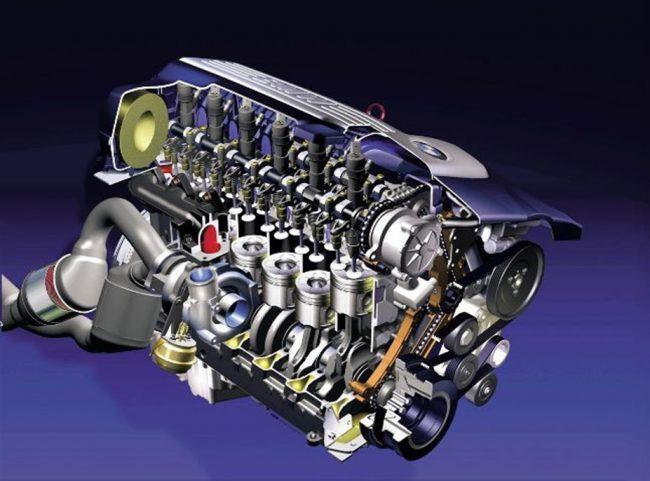 Двигатель BMW M57 в разрезе