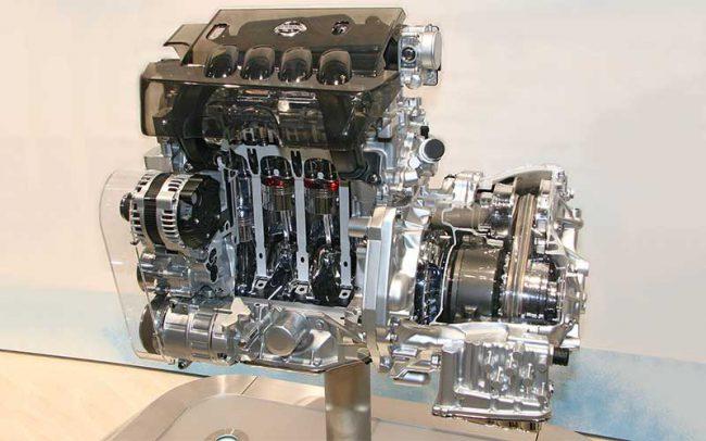 Мотор в разрезе