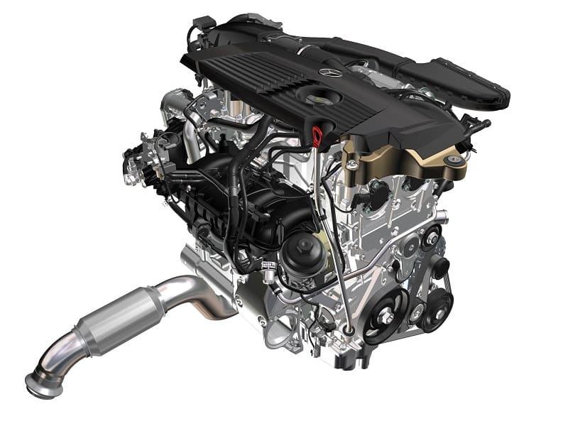 Мотор Мерседес с новейшей системой