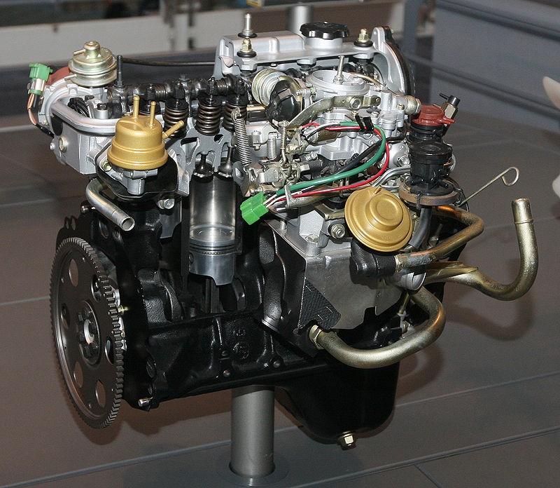 Двигатель Toyota 3A-U (1979 г. в.)