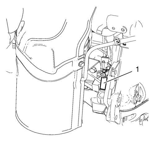 Эскизный рисунок места расположения номера двигателя 1,3 CDTI