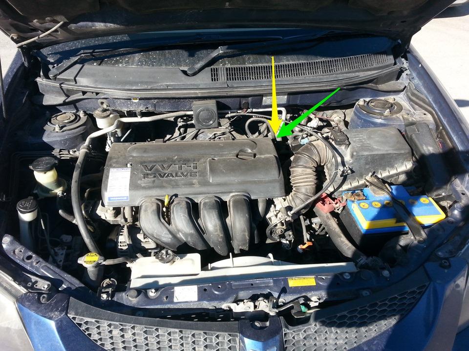Номер двигателя на 1ZZ-FE