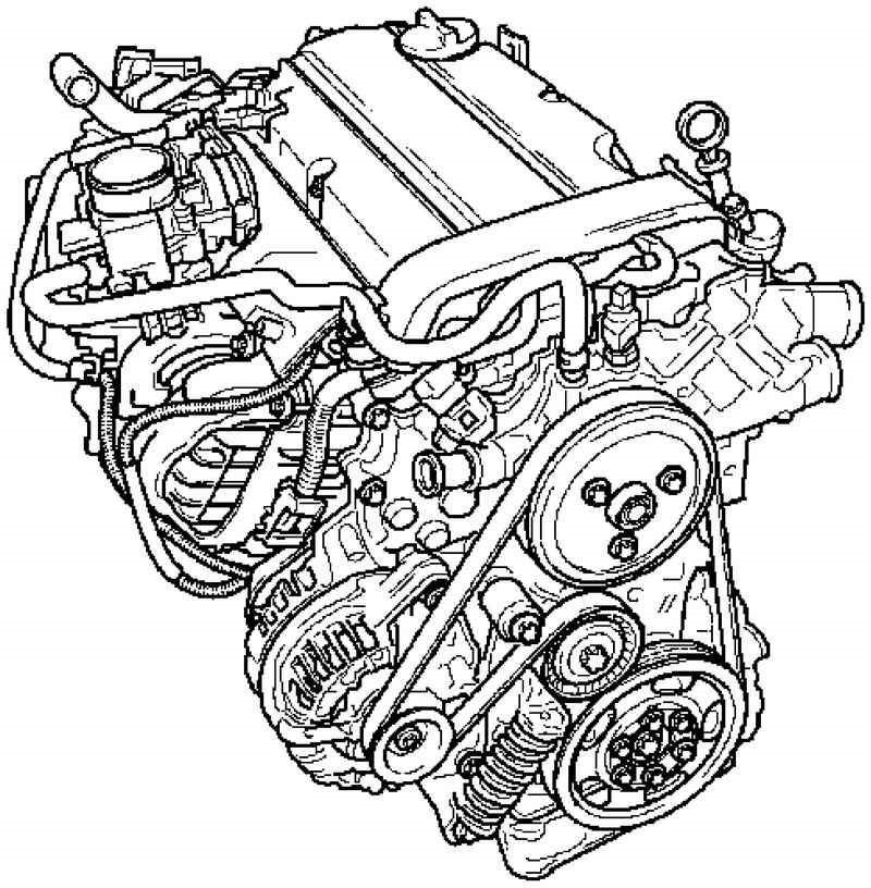 Общий вид двигателя Z14XEL