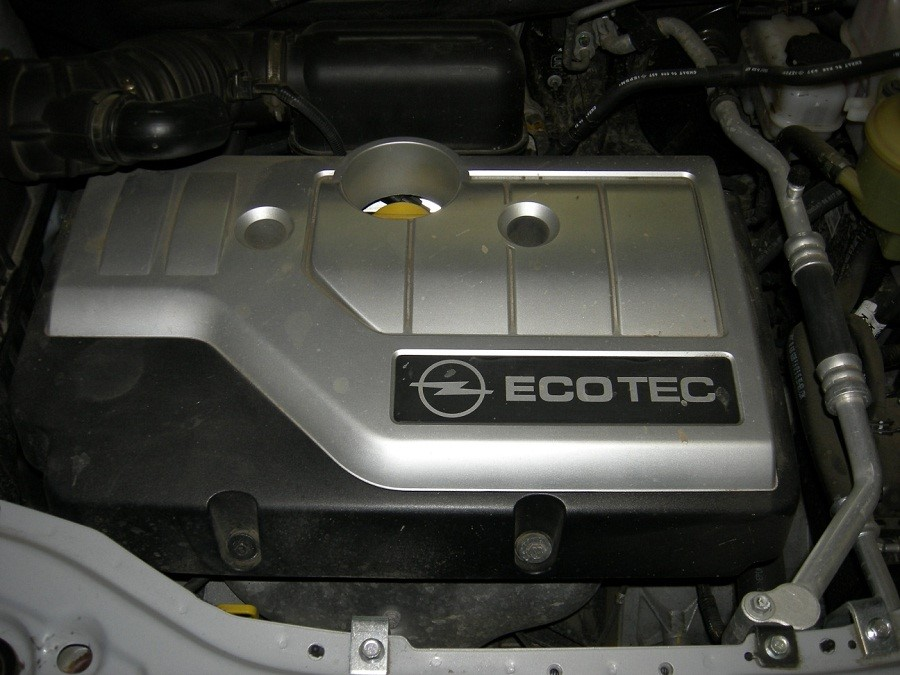 Подкапотное пространство с силовым агрегатом Z24SED