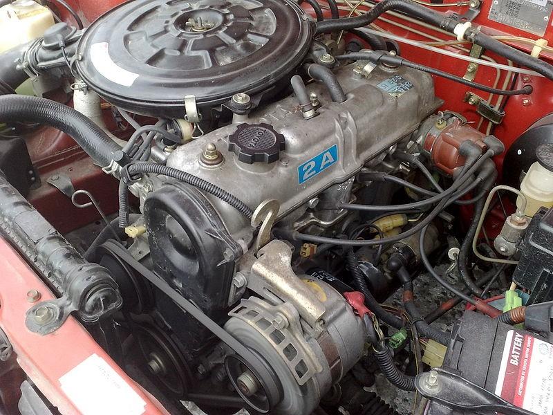 Силовой агрегат 2A в автомобиле Toyota Corsa 1983 г. в.
