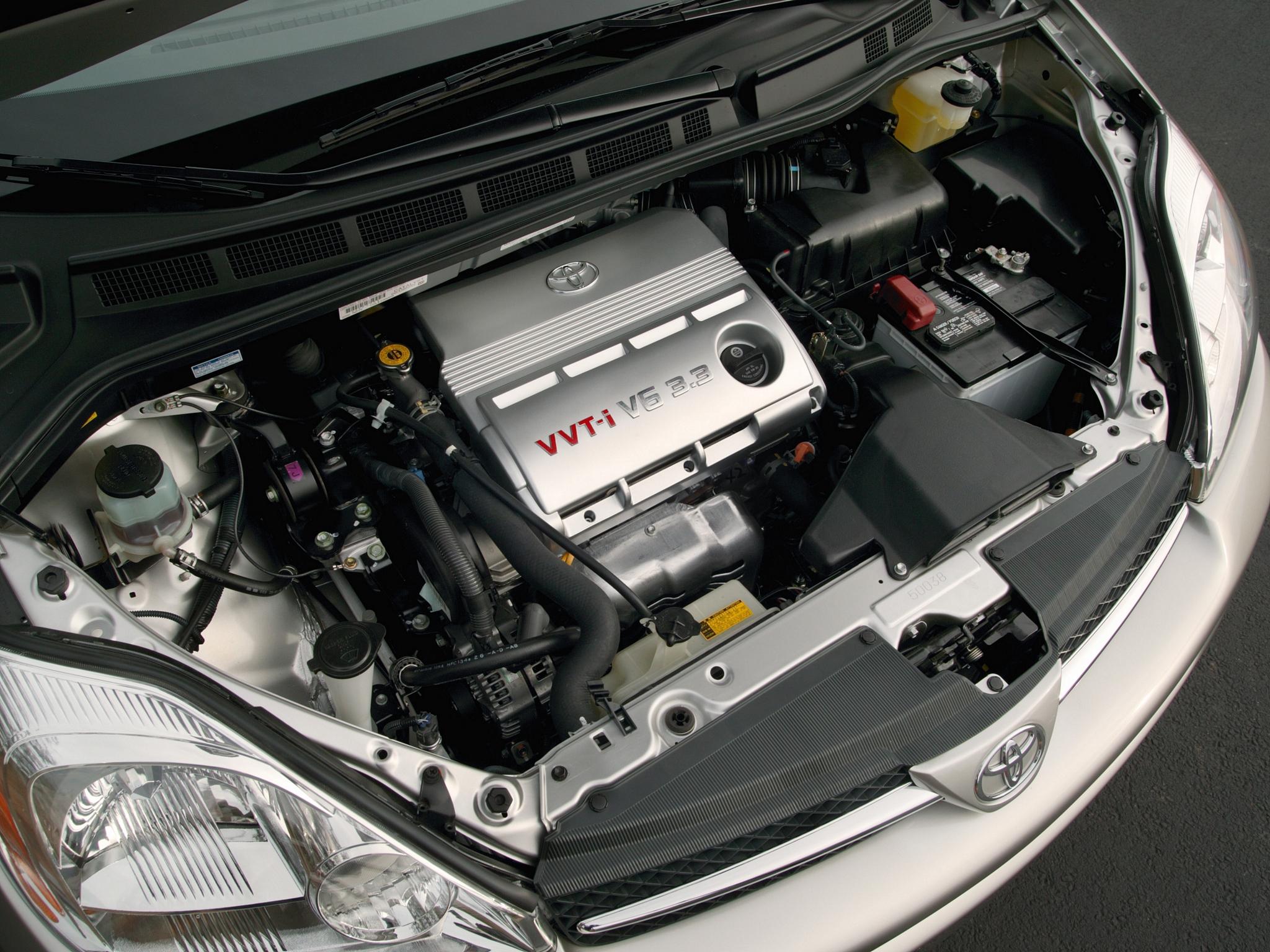Toyota Sienna 2003 года под капотом