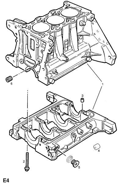 Блок двигателя Opel Z10XEP
