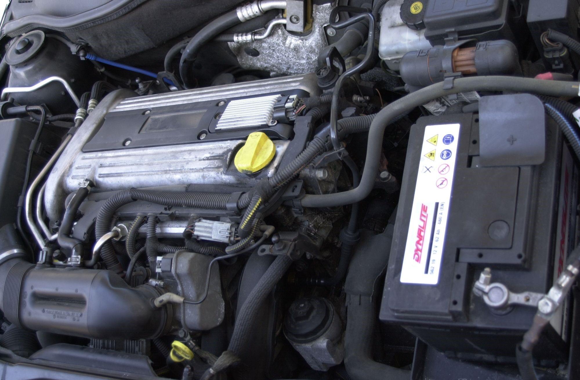 Z22SE в подкапотном пространстве Opel Astra G