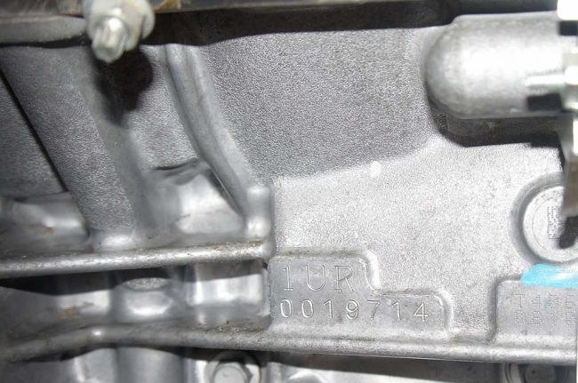 Номер двигателя на 1UR-FE