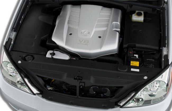Подкапотное пространство Lexus GS