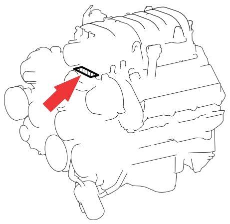 Расположение номера мотора 2UZ-FE