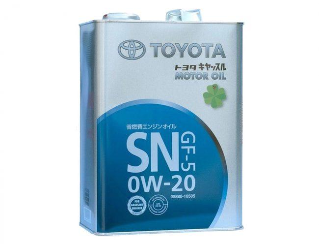 Масло Toyota SAE 0W20