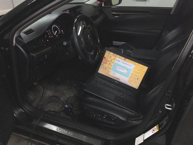 Процесс чип-тюнинга Lexus ES