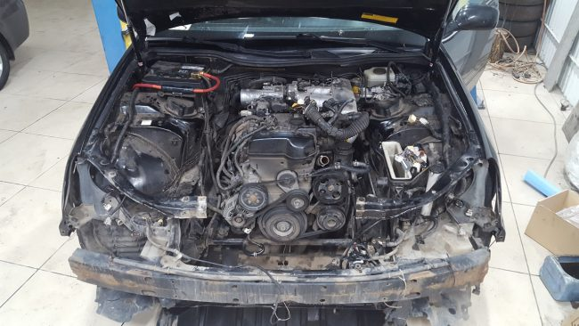 Процесс свапа на Lexus GS
