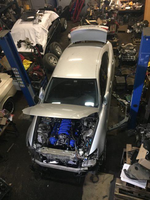 Процесс свапа на Lexus IS250