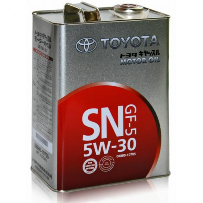 Моторная смазка Toyota
