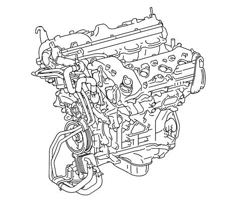 Общий вид двигателя 2GR-FKS