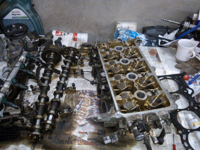 Процесс ремонта 2AR-FXE