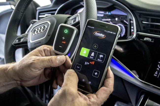 Процесс управления работой бустера с мобильника