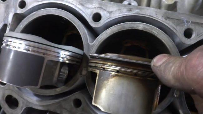 Термическое повреждение поршня пятого цилиндра двигателя 2GR-FSE