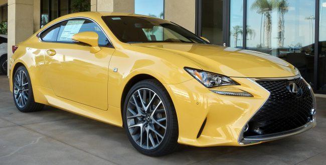Внешний вид Lexus RC