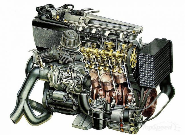 Конструкция двигателя 3B