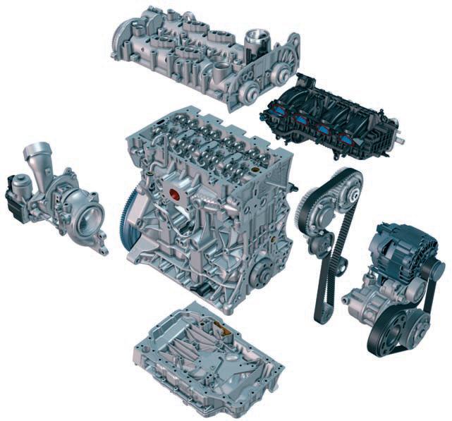 Модульная конструкция двигателей CZDA и CZEA