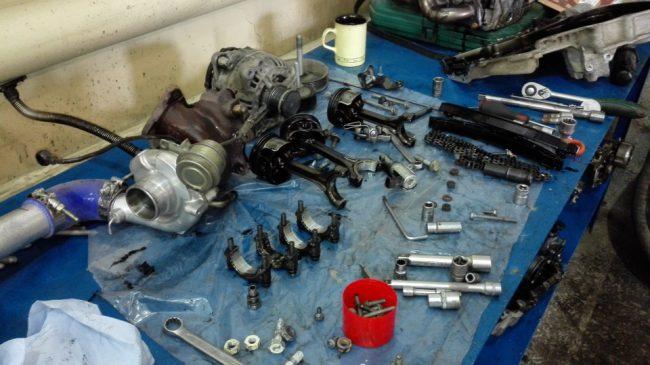 Процесс переборки двигателя CAVA