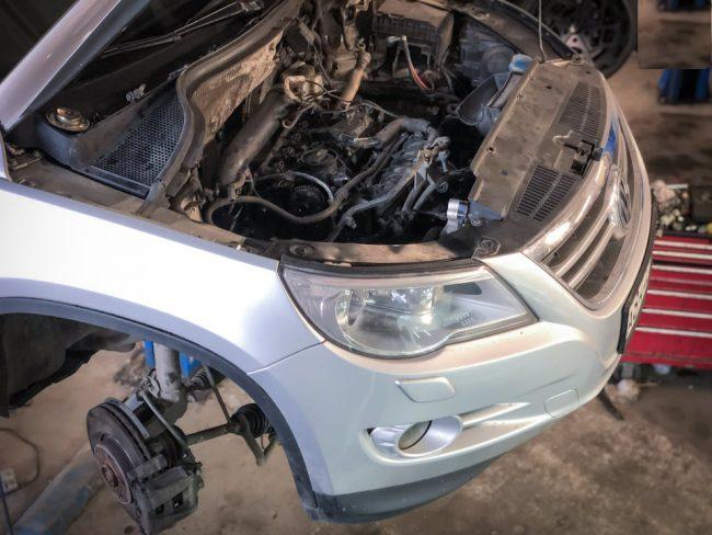 Процесс свапа двигателя на Volkswagen Tiguan