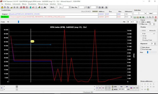 Снятие параметров во время чип-тюнинга