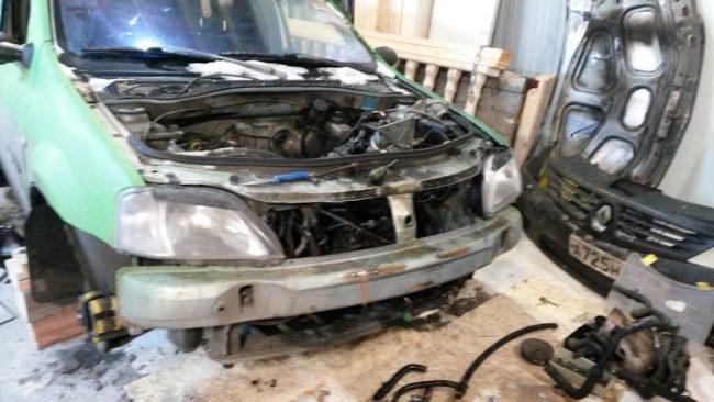 Подготовка Renault Logan к свапу