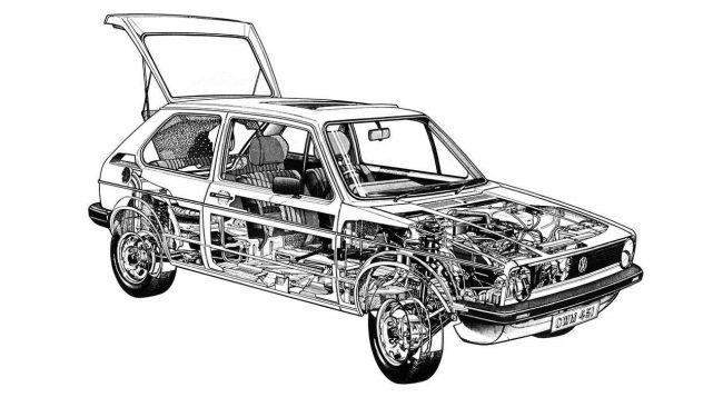 Схематическое построение остова машин первого поколения
