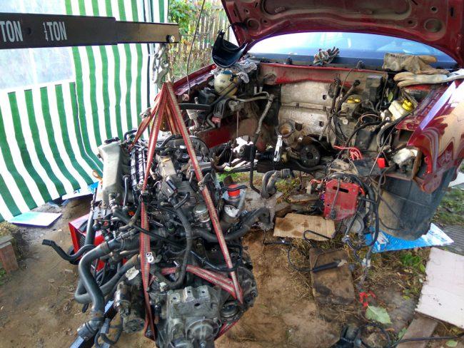 Свап двигателя с Volkswagen Jetta на Skoda Octavia