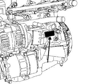 Место номера двигателя на блоке цилиндров