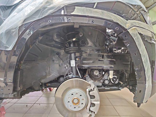 Осмотр двигателя Volkswagen Teramont