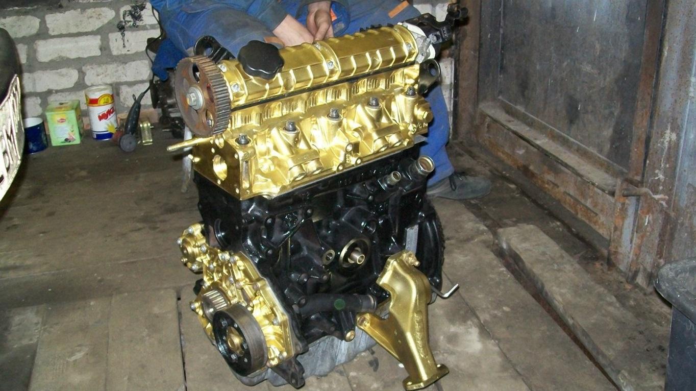 Перекрашивание двигателя F3R