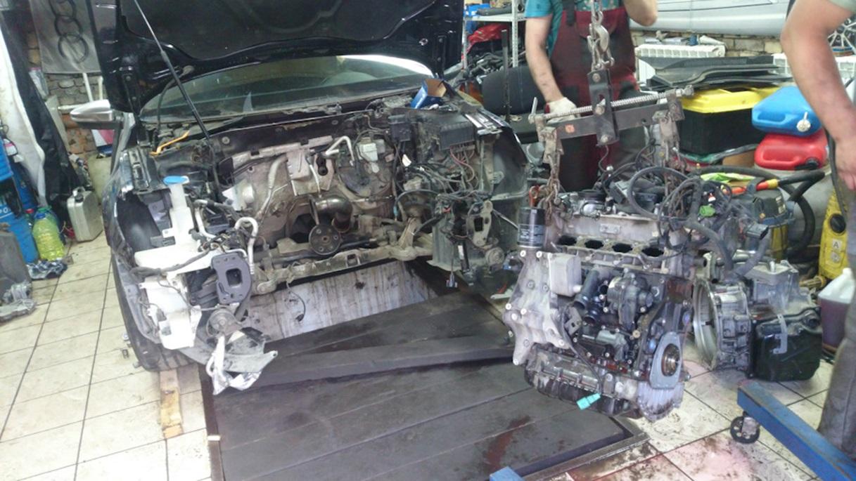 Процесс свапа двигателя на Volkswagen Passat CC