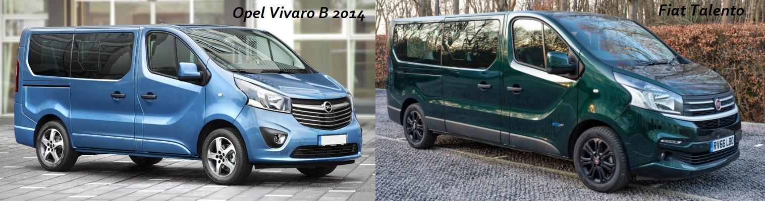 Opel Vivaro B 2014 и Fiat Talento