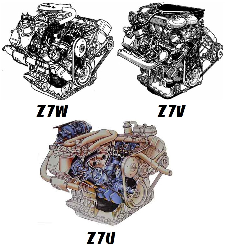 Двигатели Z7U Z7W Z7V